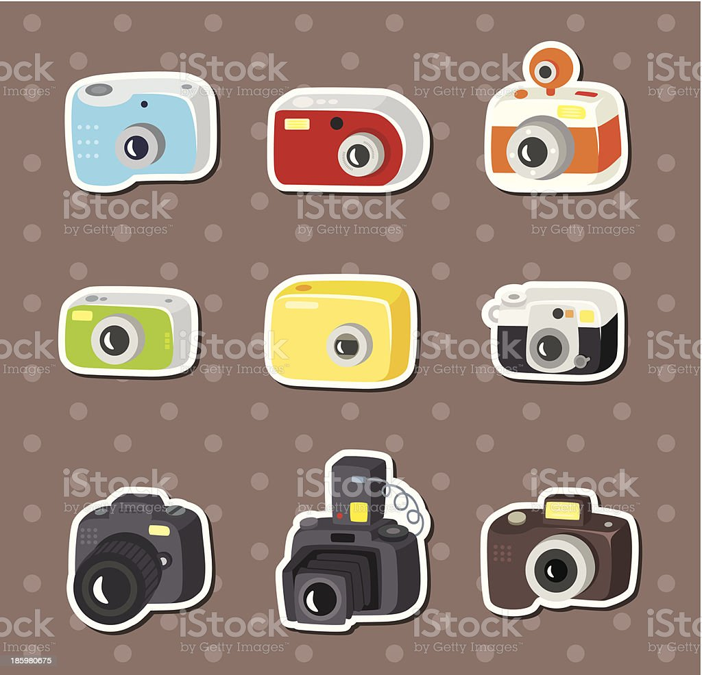 camera stickers royalty-free stock vector art