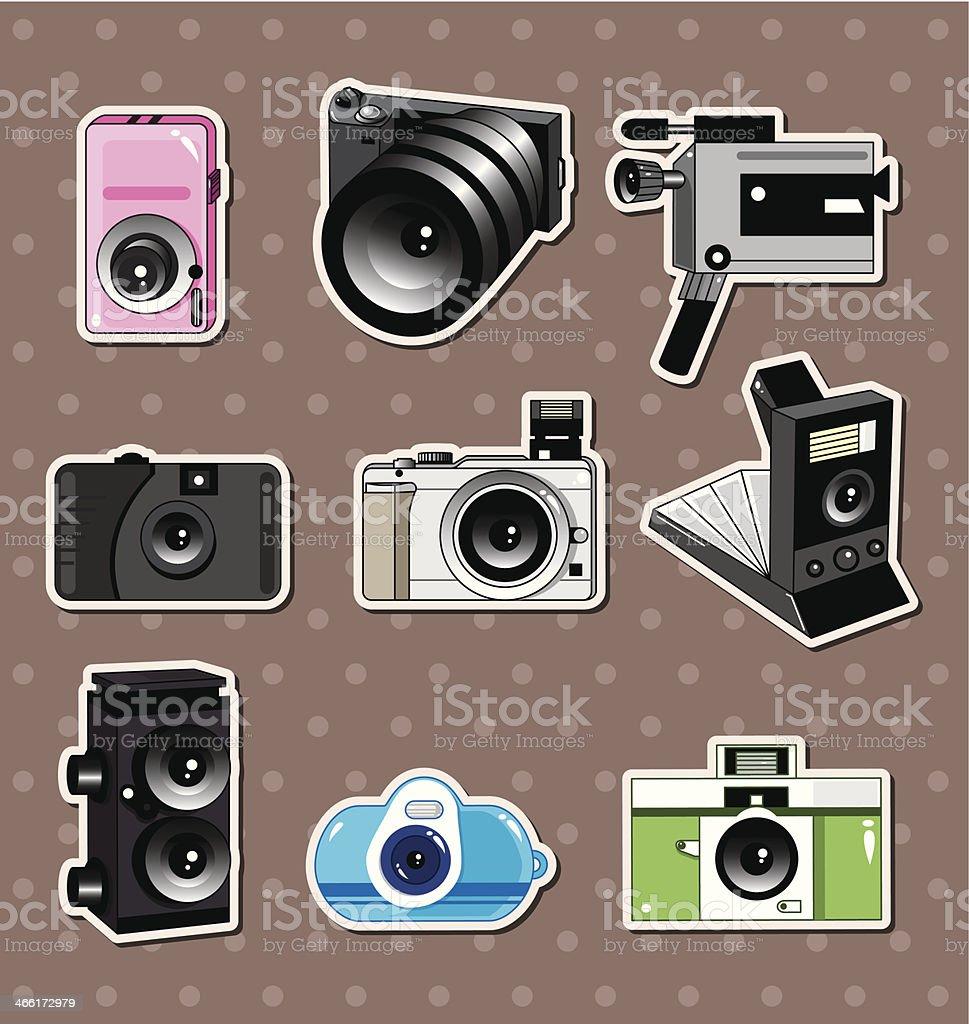 camera stickers royalty-free stock vector art