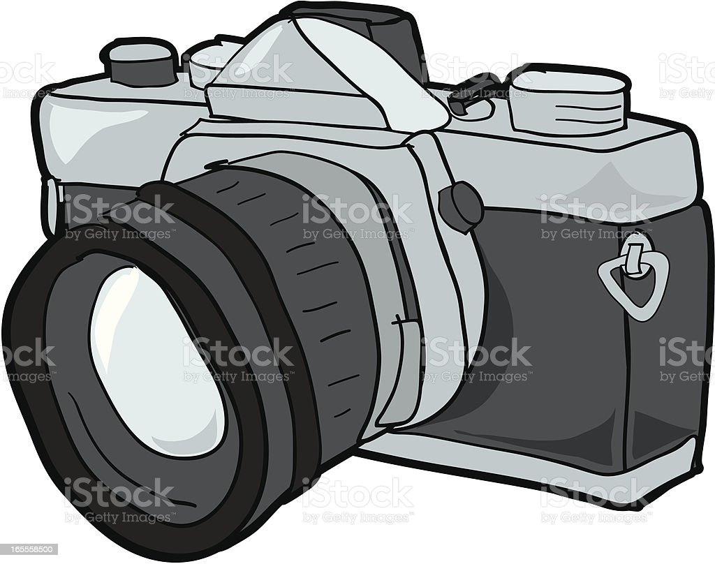 SLR Camera vector art illustration