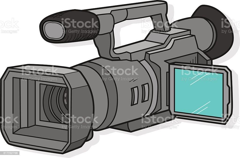 TV Camera vector art illustration