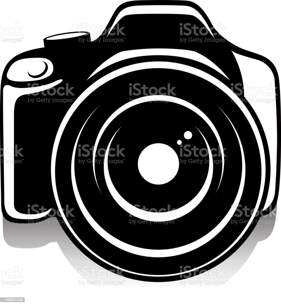 Camera with wide angle lens royalty-free stock vector art