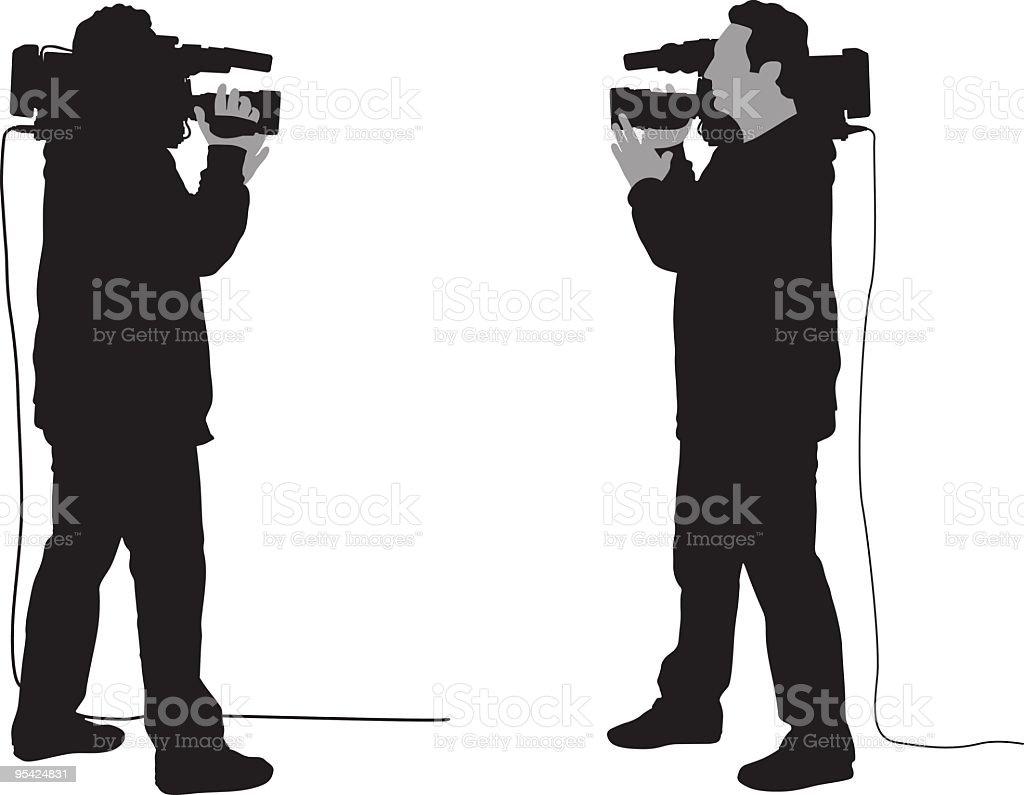 Cameraman royalty-free stock vector art