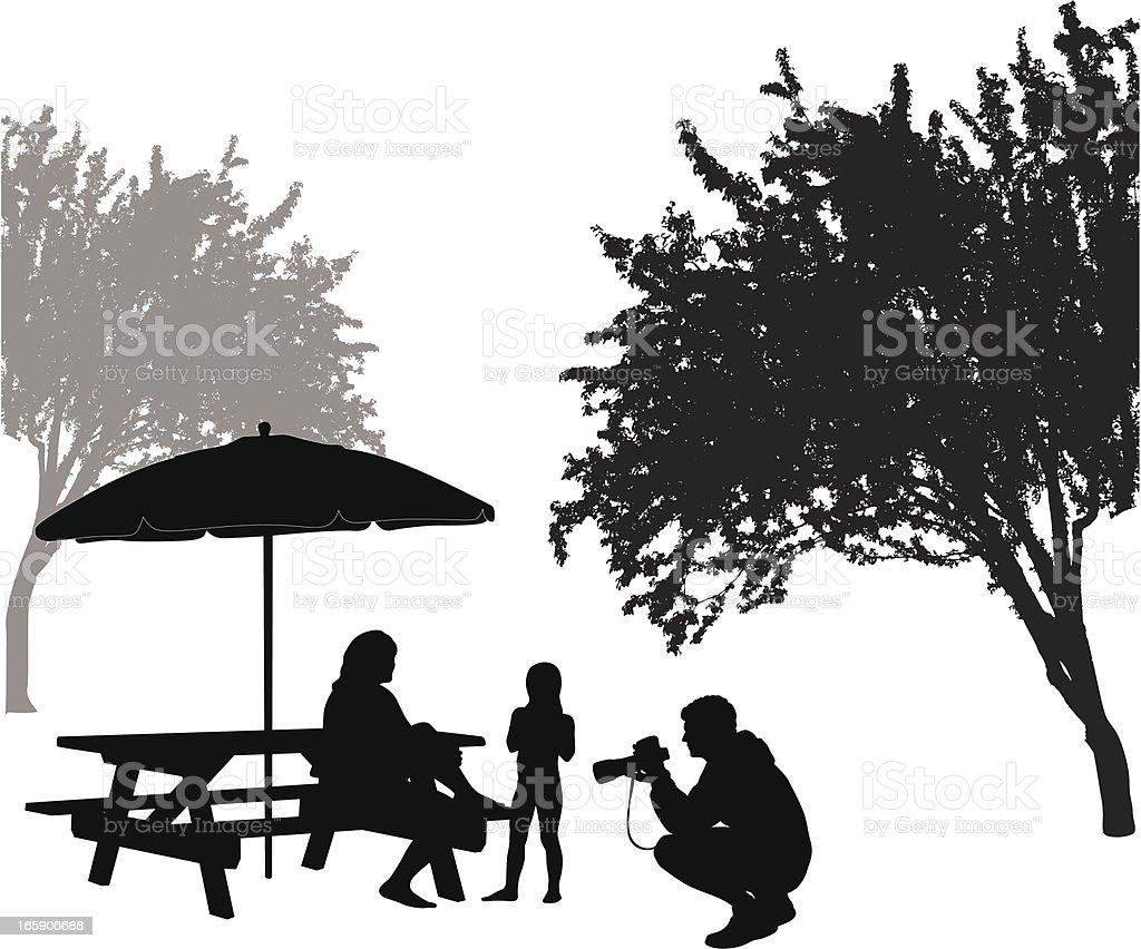 Camera'n Summer Vector Silhouette vector art illustration