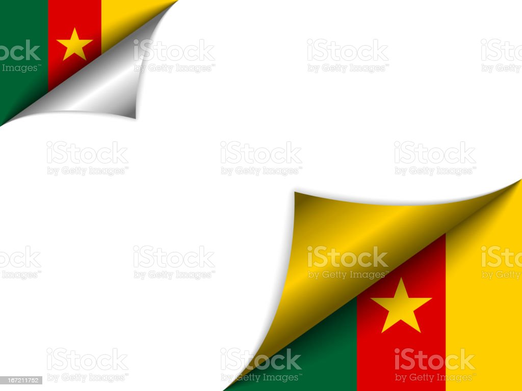 Cameroon Country Flag Turning Page royalty-free stock vector art