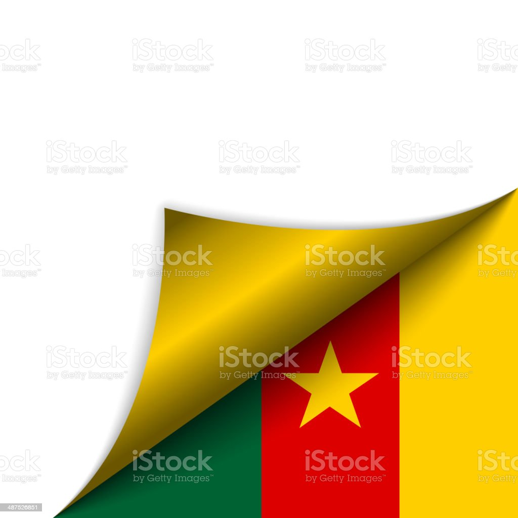 Cameroon Country Flag Turning Page vector art illustration