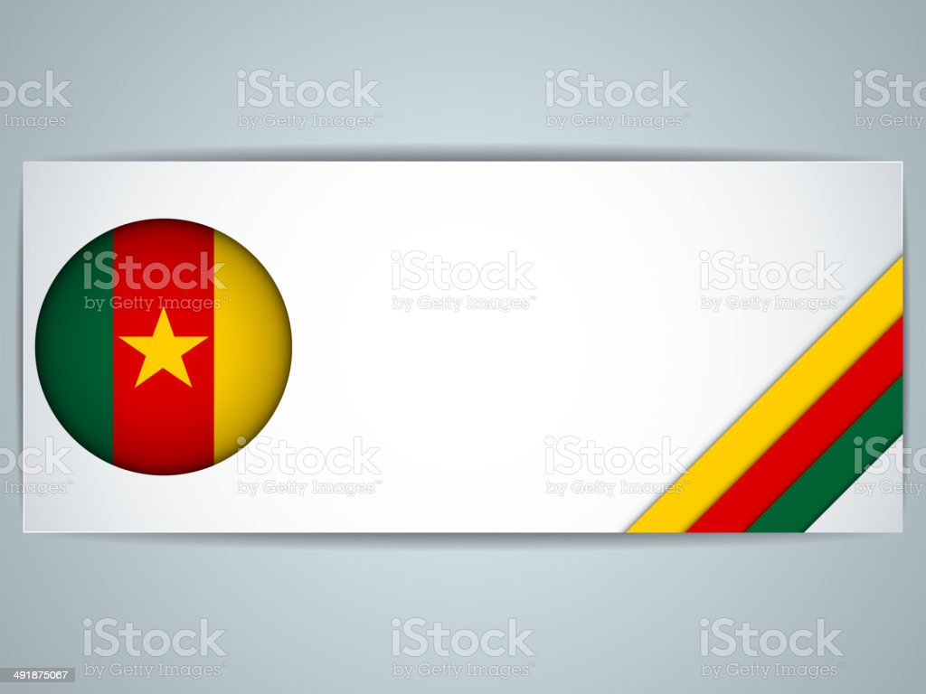 Cameroon Country Set of Banners vector art illustration