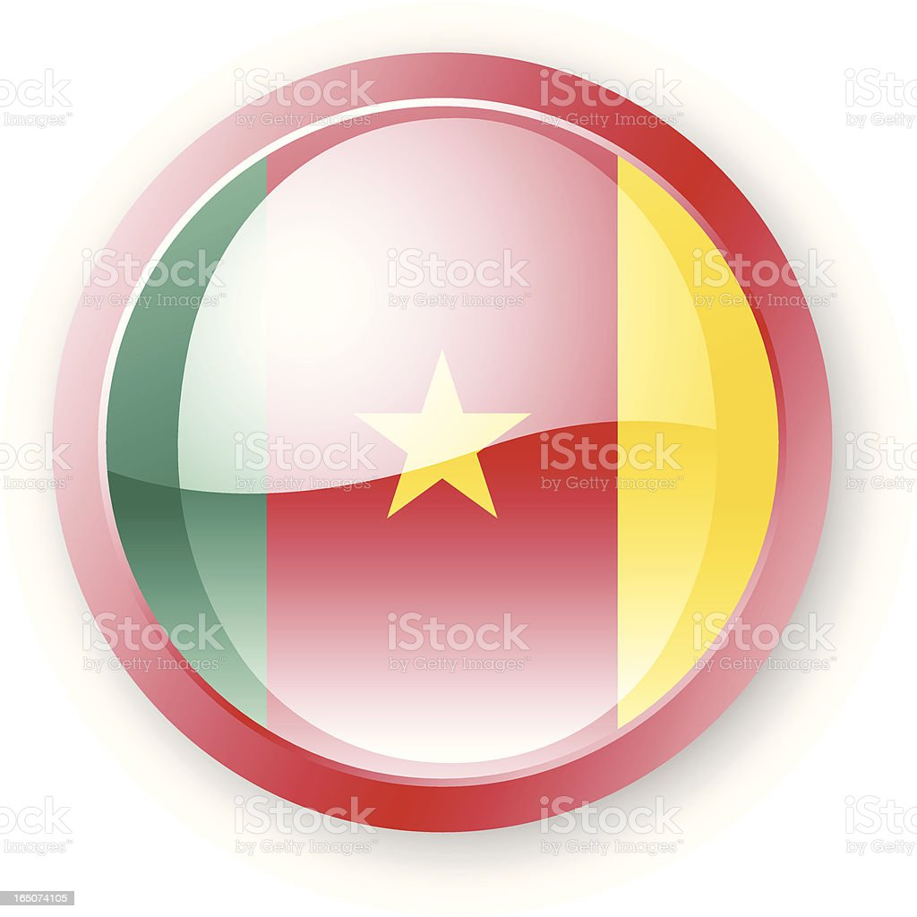 Cameroon Flag Icon royalty-free stock vector art