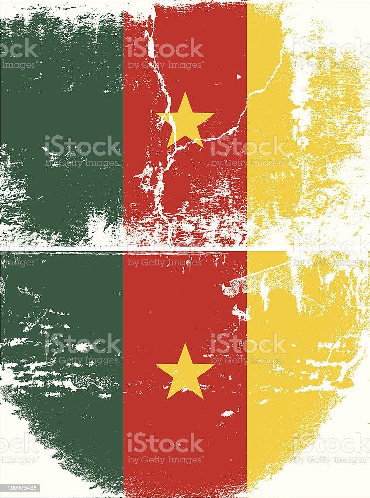 Cameroon Grunge flag royalty-free stock vector art