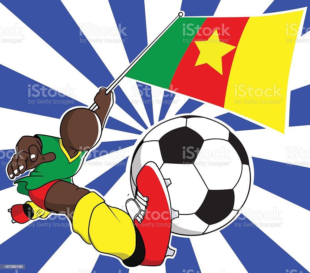 Cameroon  soccer player vector cartoon royalty-free stock vector art