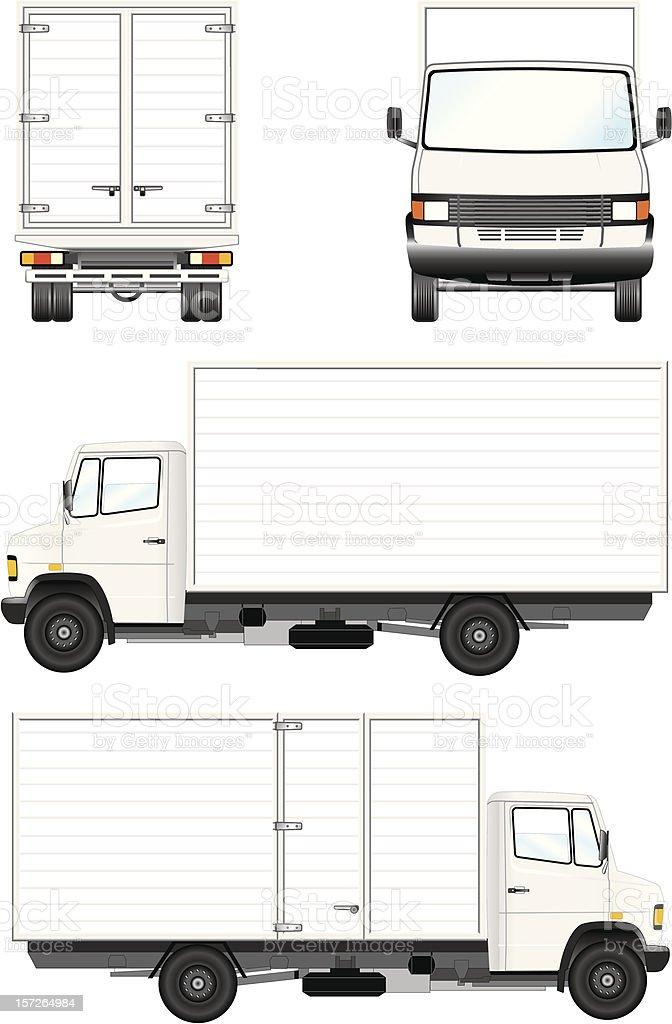 Camión de Reparto vector art illustration