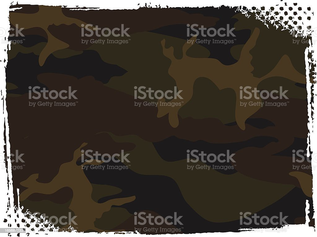 Camo Background vector art illustration