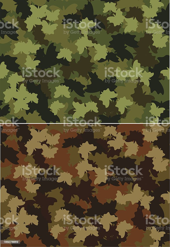 Camo butterfly royalty-free stock vector art