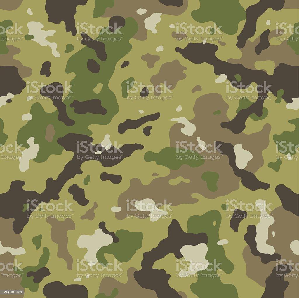 Camo seamless pattern vector art illustration