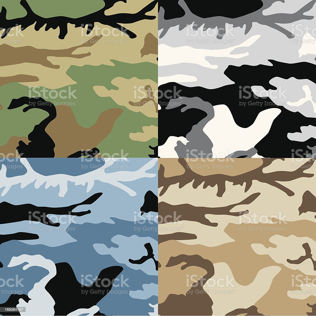 Camoflauge set royalty-free stock vector art