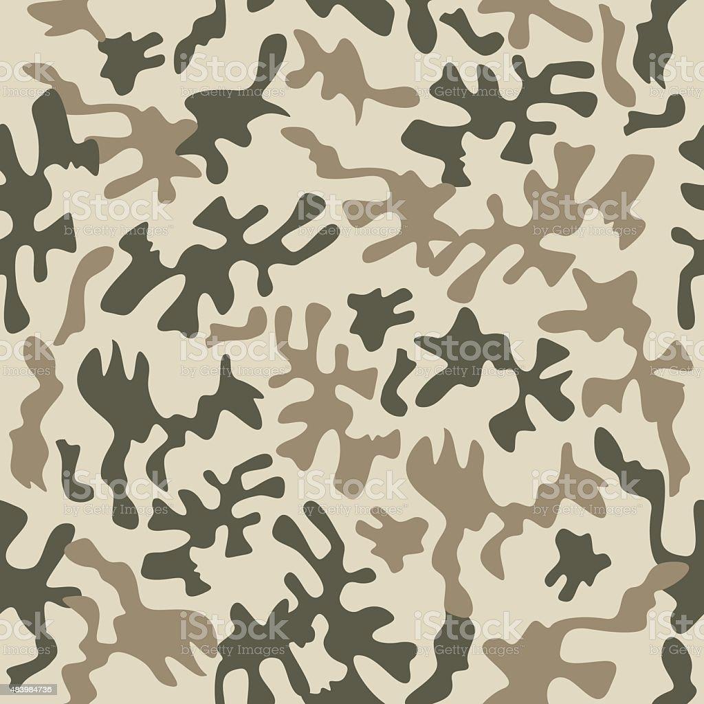Camouflage fabric pattern vector art illustration