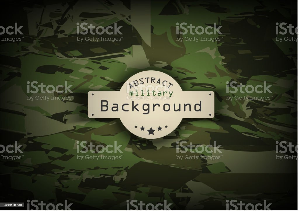 Camouflage military pattern background. Vector illustration, EPS10 vector art illustration
