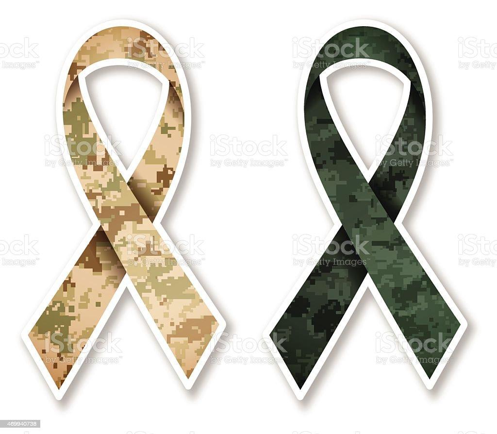 Camouflage Military Ribbon vector art illustration