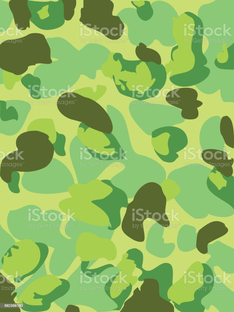 Camouflage pattern background clothing print, repeatable camo glamour vector. Lime, green vector art illustration