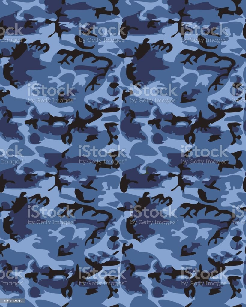 Camouflage pattern background seamless vector illustration. Clas vector art illustration