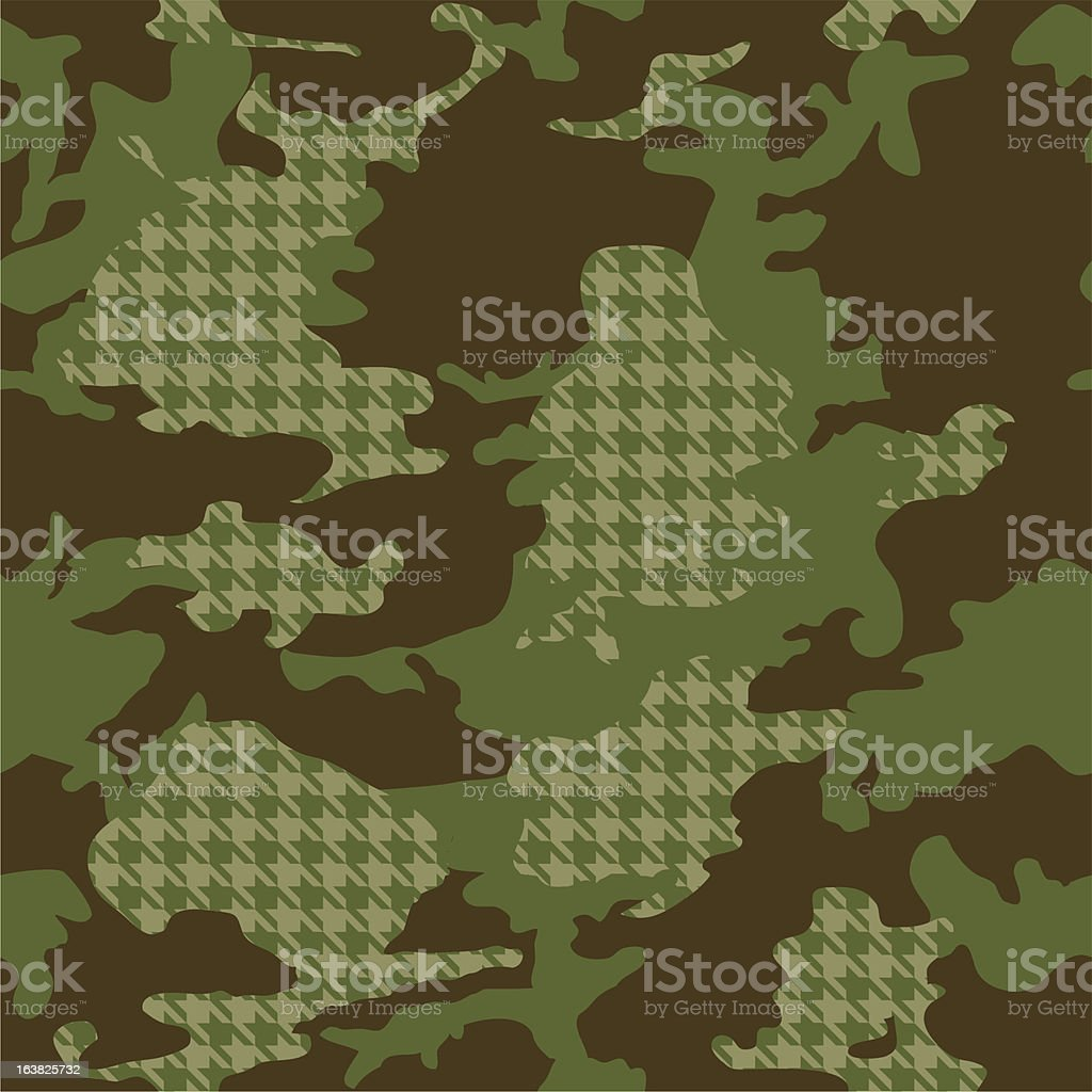 Camouflage Pattern - In Full Repeat royalty-free stock vector art