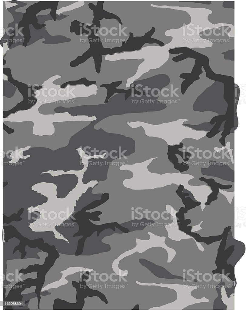 Camouflage Pattern in Gray royalty-free stock vector art