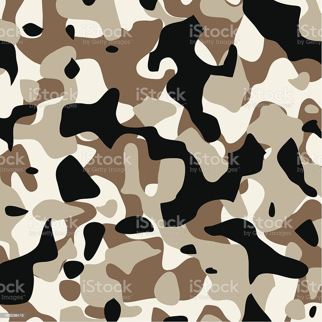 Camouflage Pattern Modern Desert royalty-free stock vector art