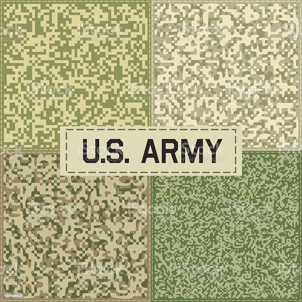 Camouflage Pattern Set One vector art illustration