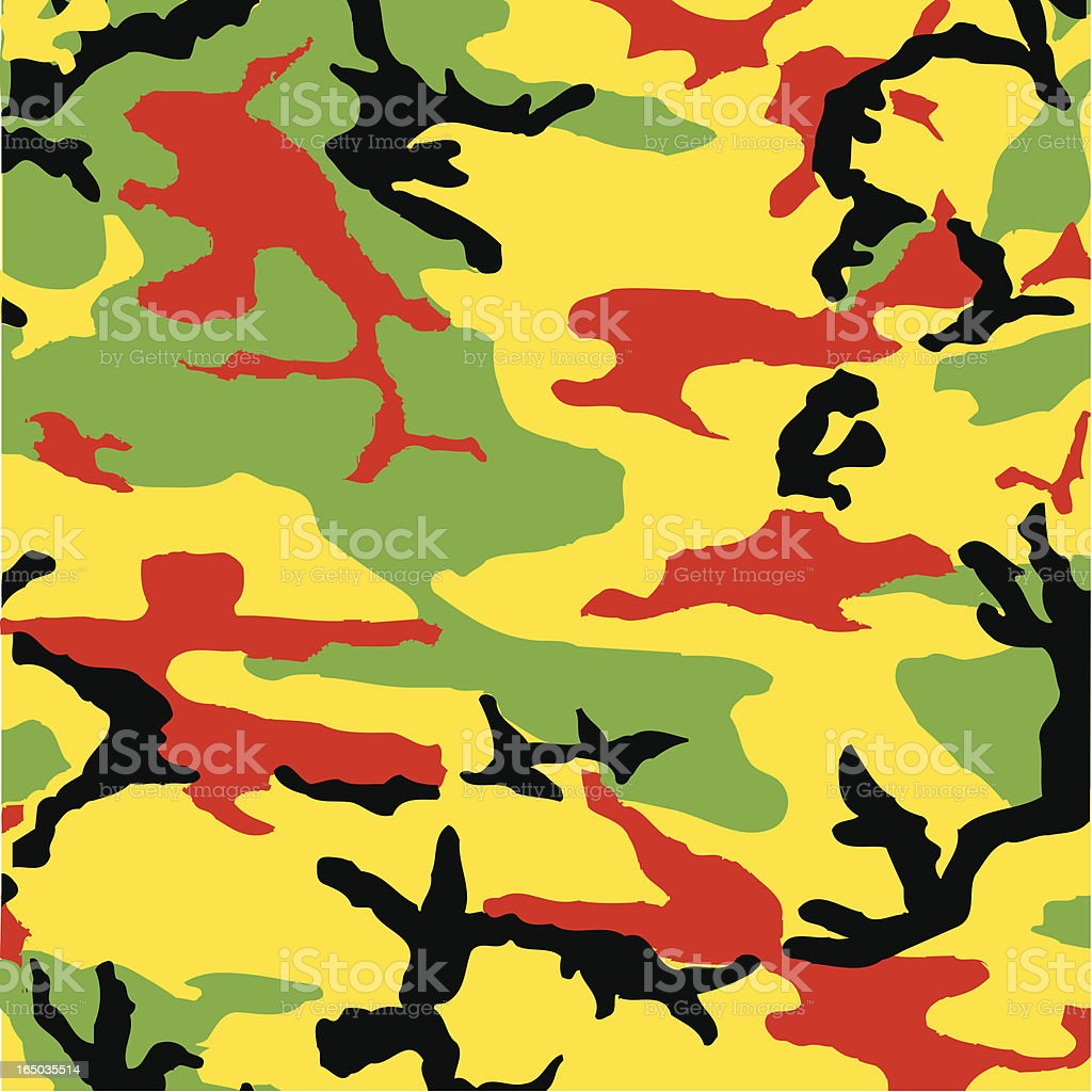 Camouflage Rasta (Red Gold Green) royalty-free stock vector art