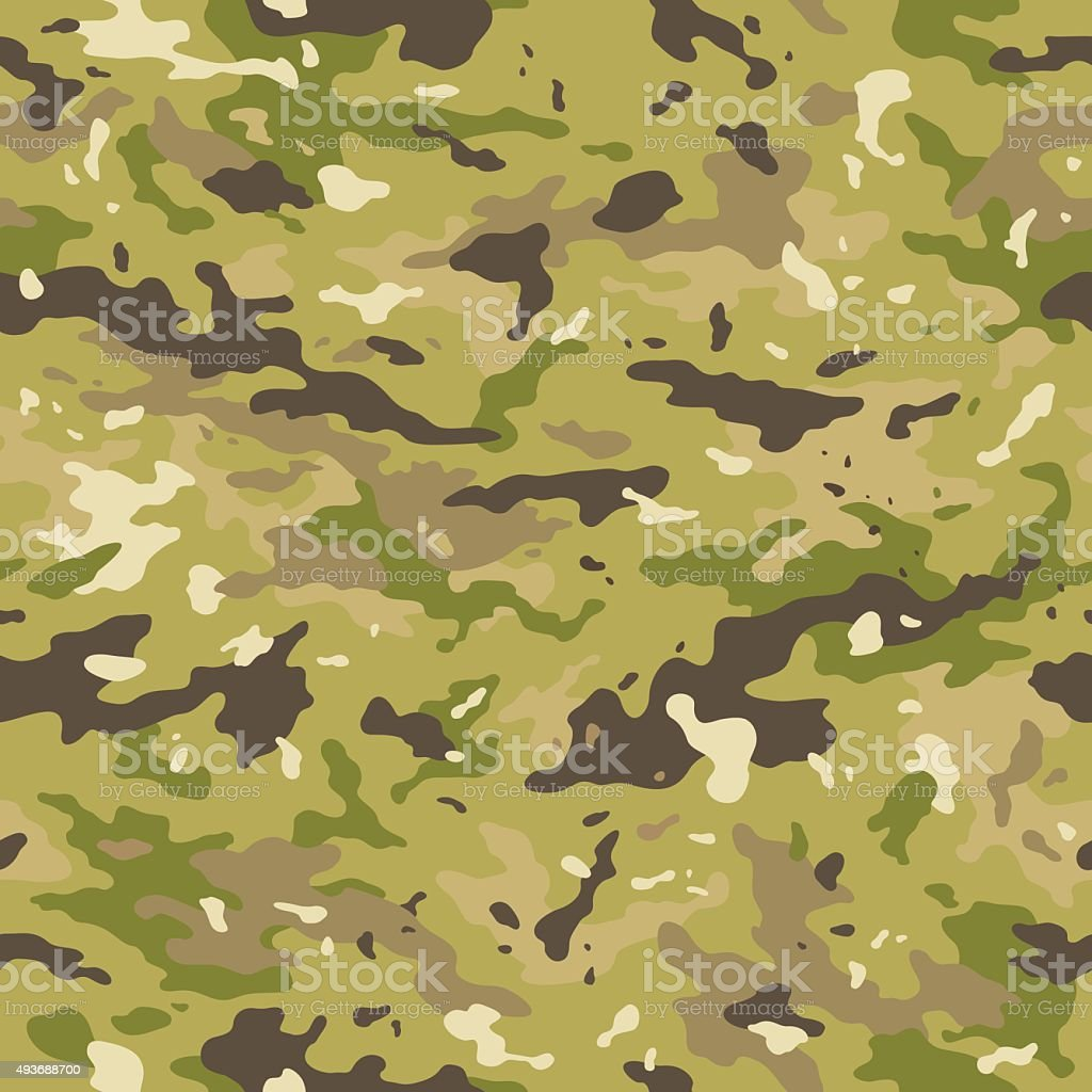 Camouflage seamless pattern vector art illustration