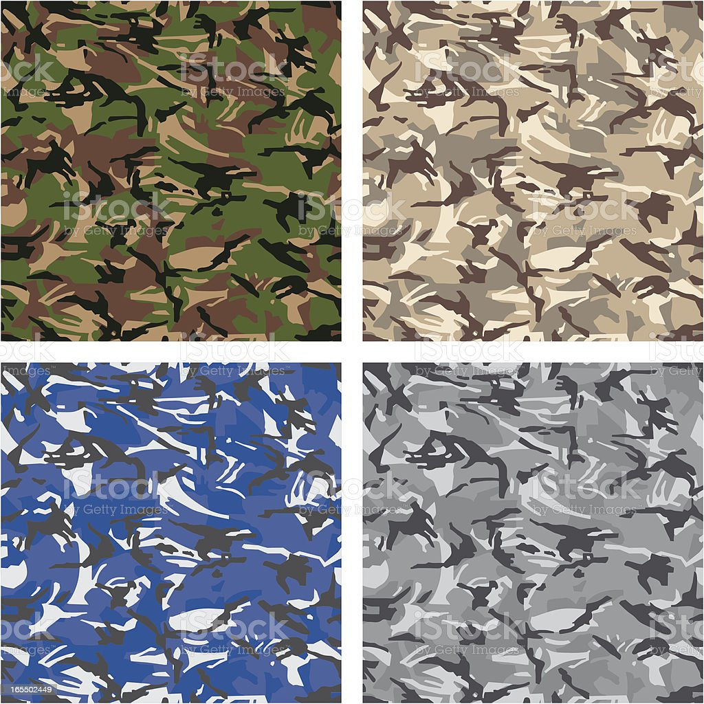 Camouflage (Seamless) royalty-free stock vector art