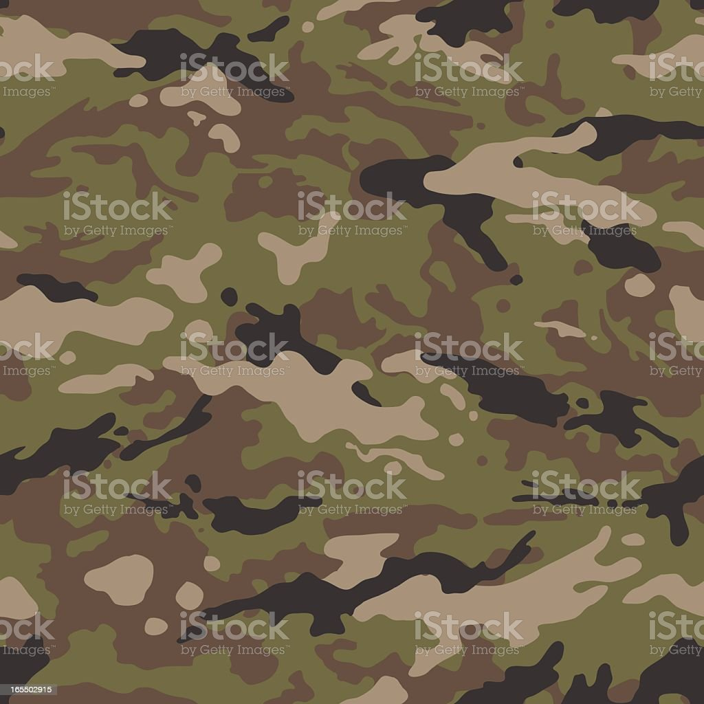 Camouflage Vector - Seamless Tile (US Multi) royalty-free stock vector art