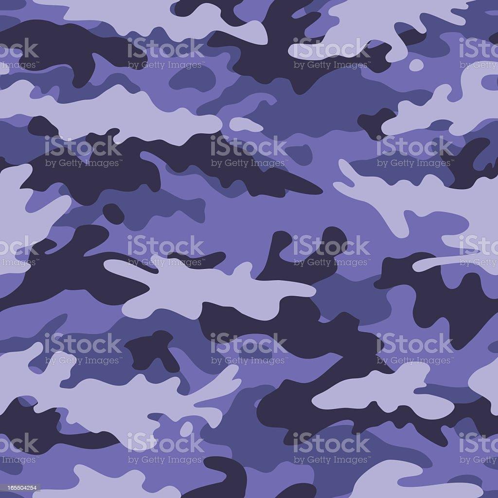 Camouflage Vector - Seamless Tile (Blue Amoeba) vector art illustration