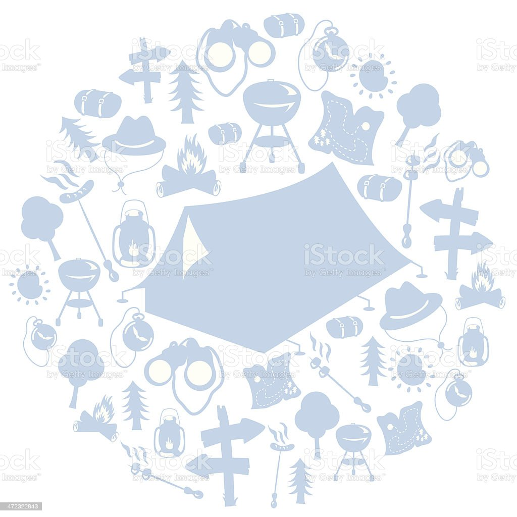 Camp Accessories royalty-free stock vector art