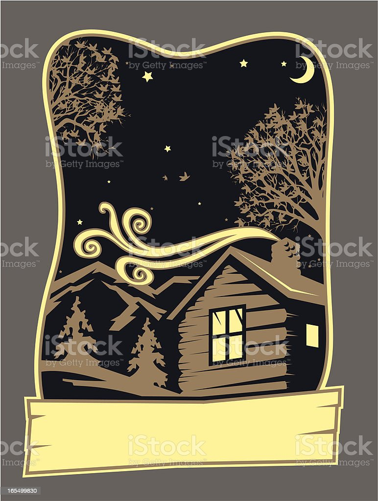 Camp Design vector art illustration