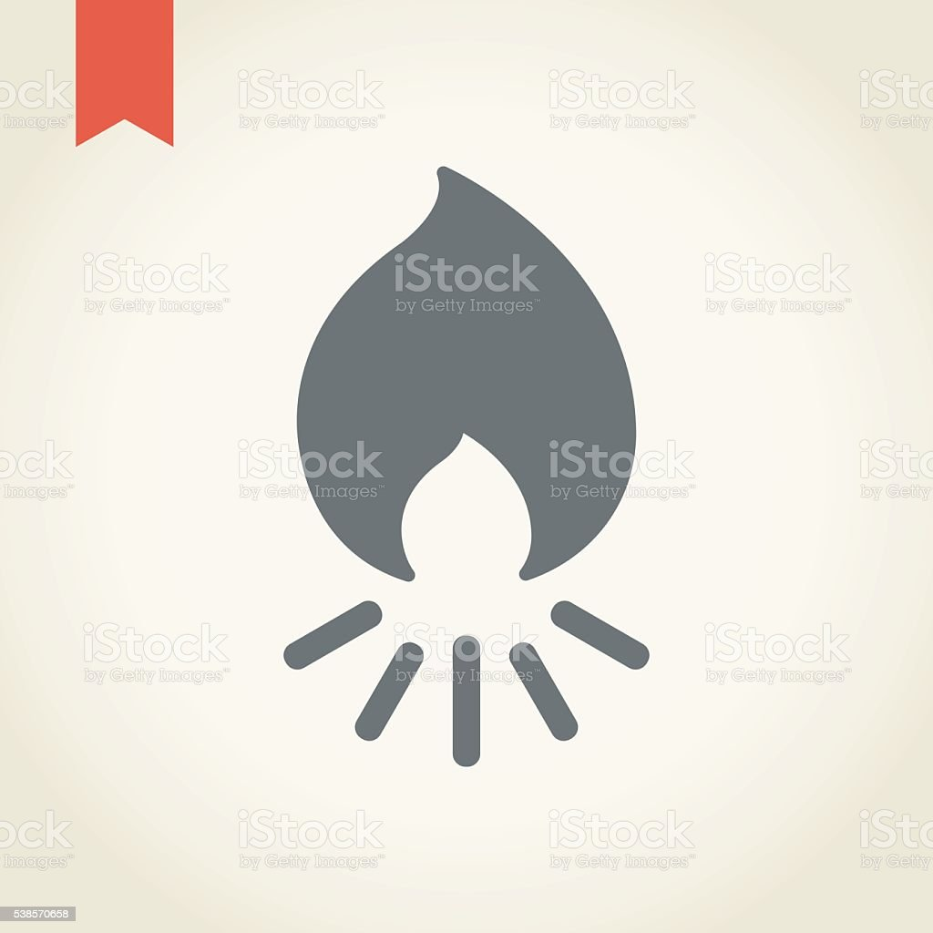 Camp fire icon vector art illustration