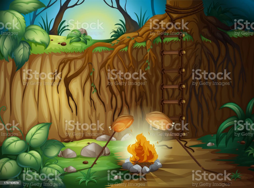 Camp fire royalty-free stock vector art