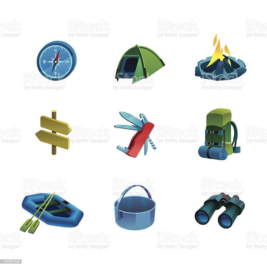 Camp icon royalty-free stock vector art