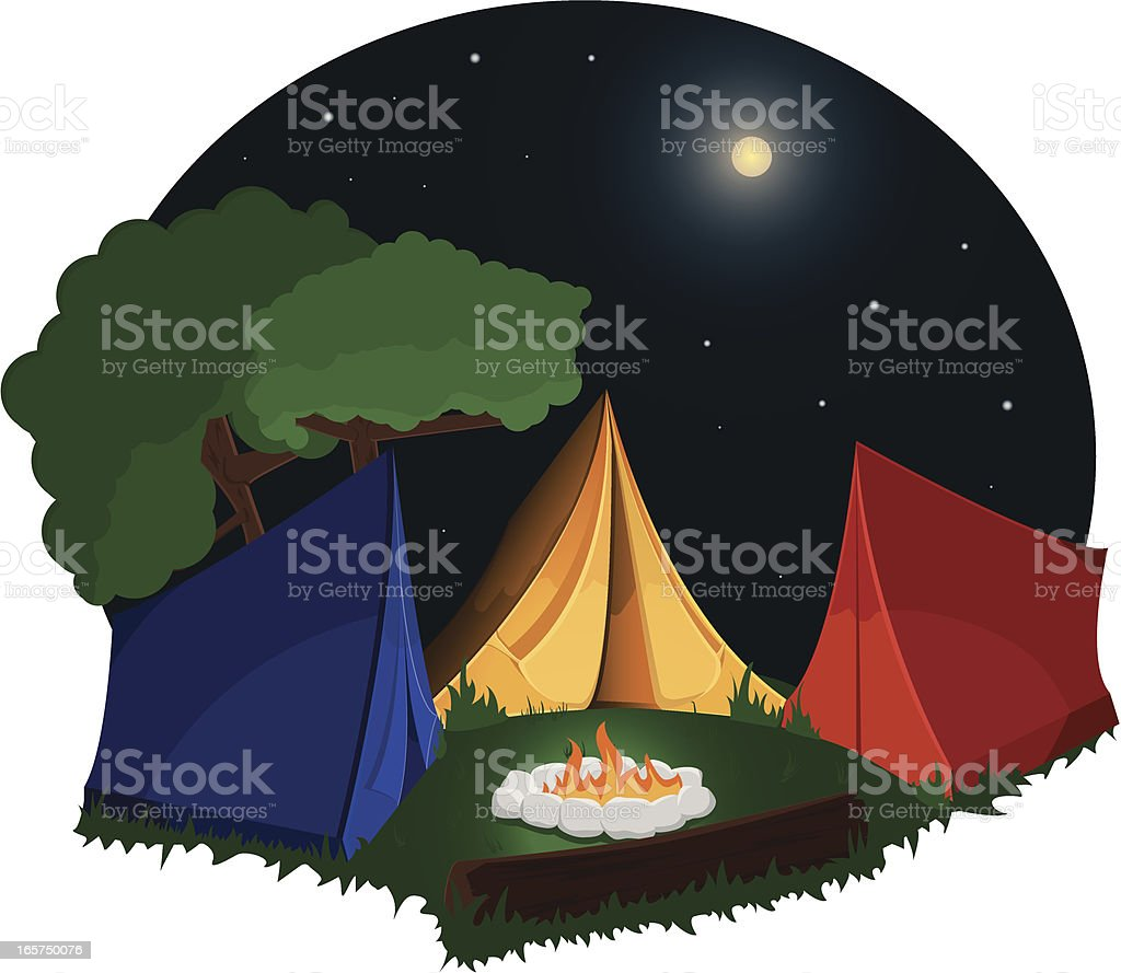 Camp site. royalty-free stock vector art