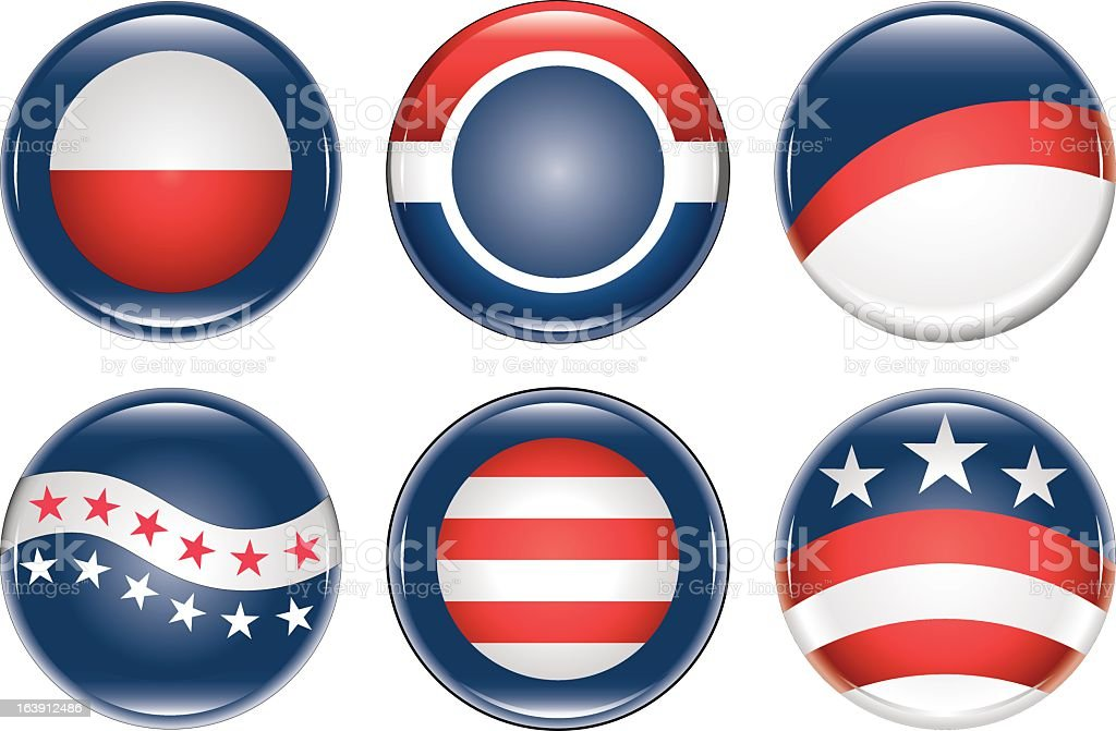 Campaign Buttons Blank vector art illustration