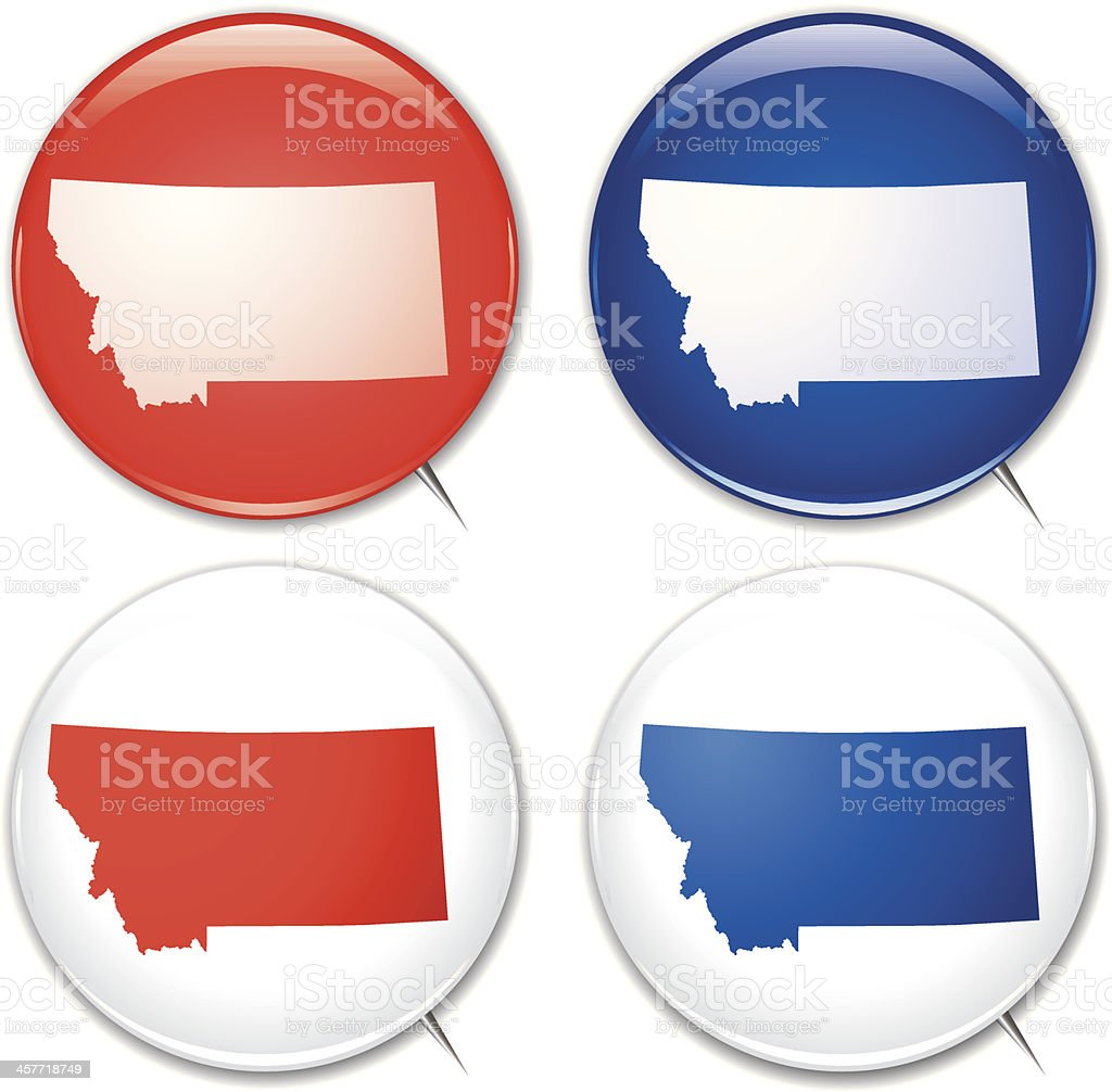 Campaign Buttons - Montana royalty-free stock vector art