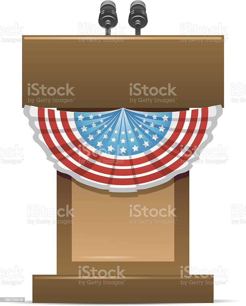 Campaign Podium vector art illustration