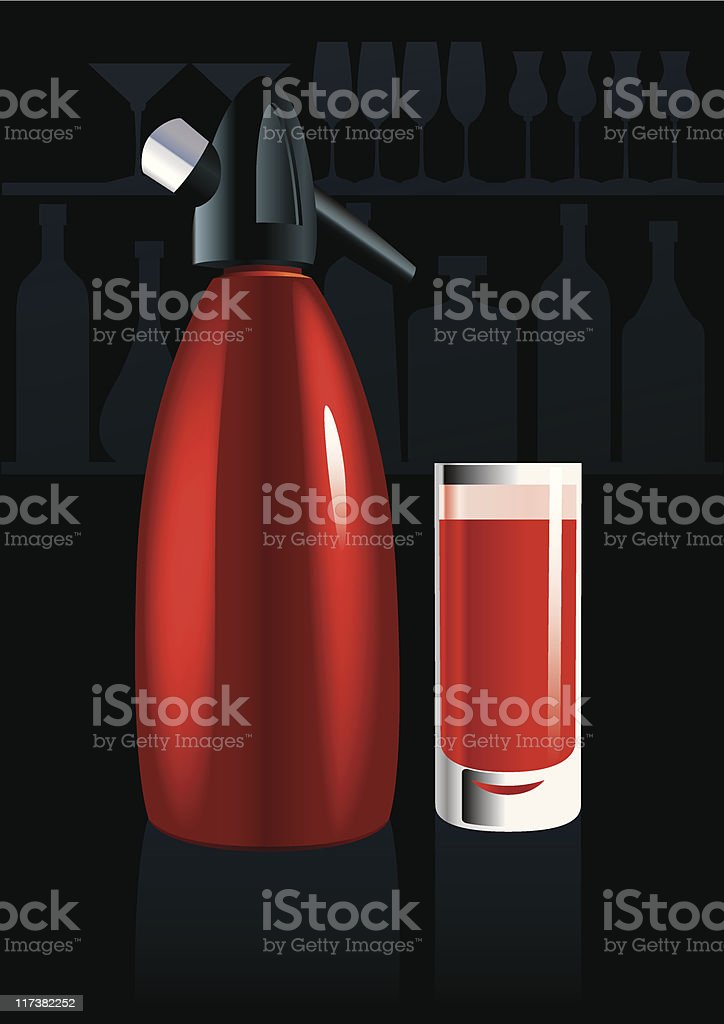 Campari & Soda vector art illustration