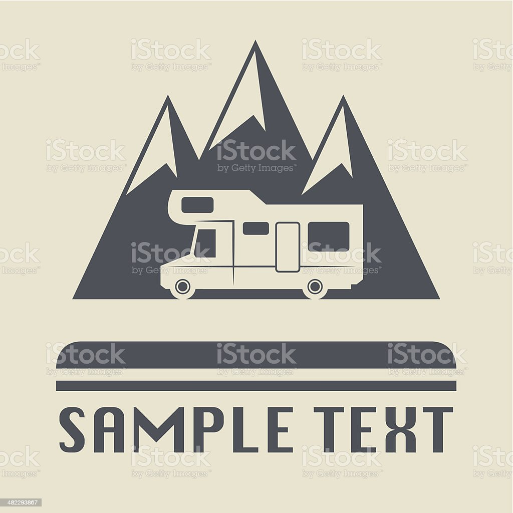 Camper icon vector art illustration