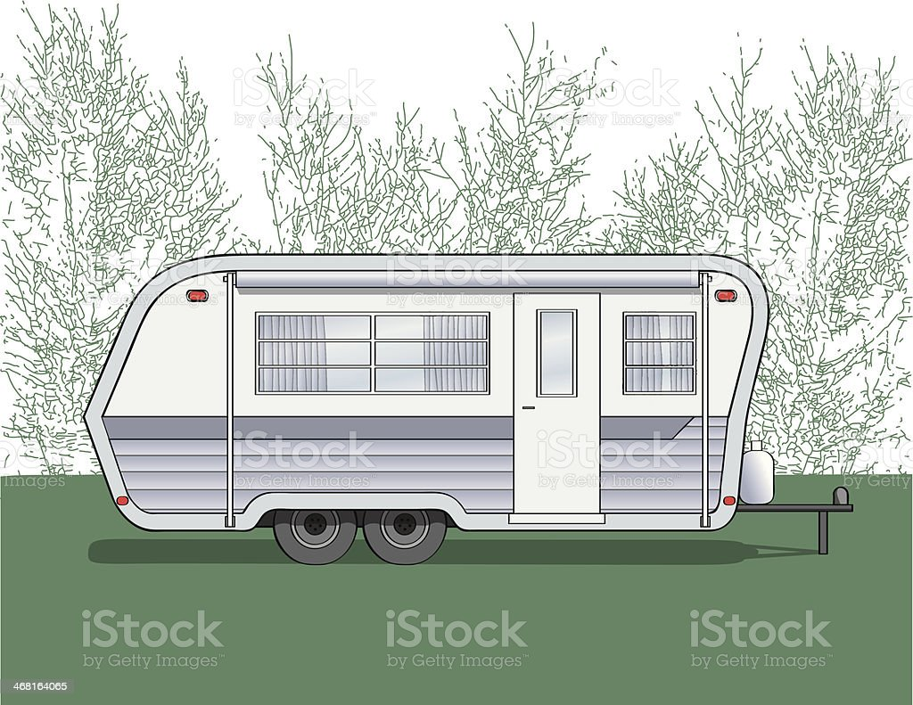 Camper trailer royalty-free stock vector art