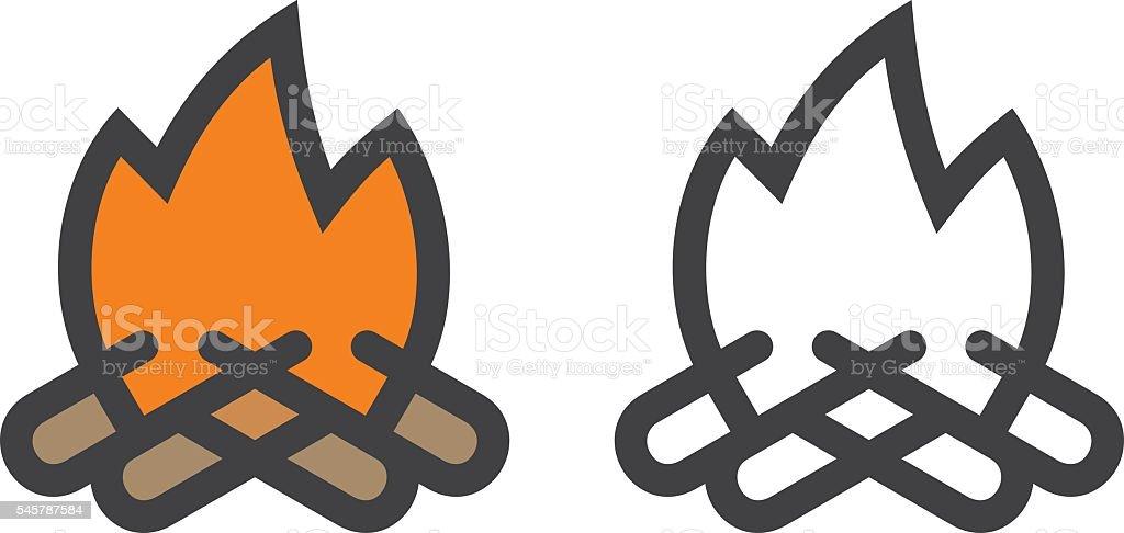 Campfire Icon vector art illustration