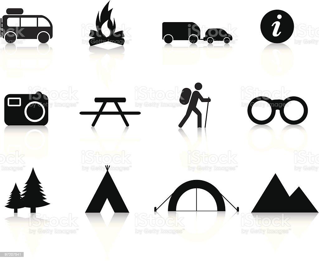 camping und outdoor-symbol-symbol set Lizenzfreies vektor illustration