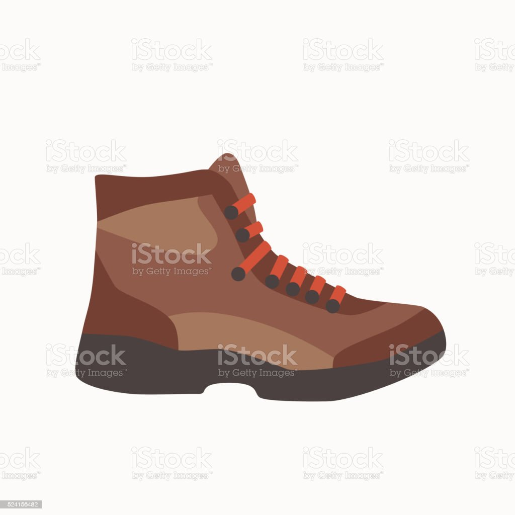 Camping boot icon in flat style. vector art illustration