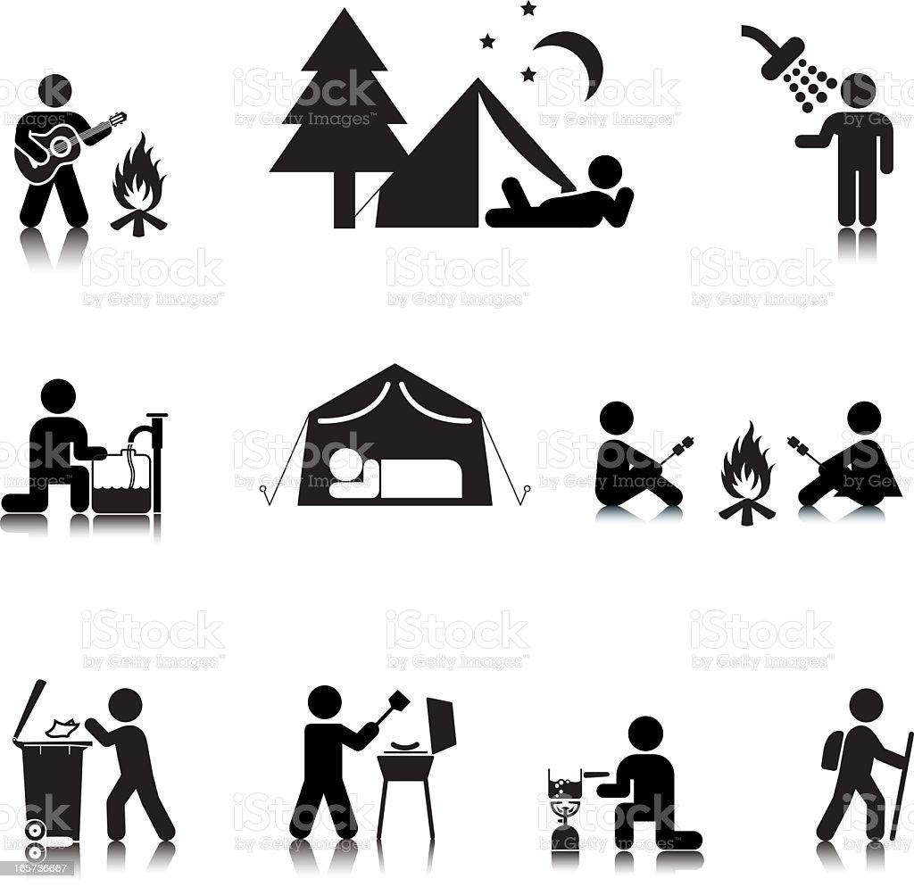Camping Icon Set 2 royalty-free stock vector art
