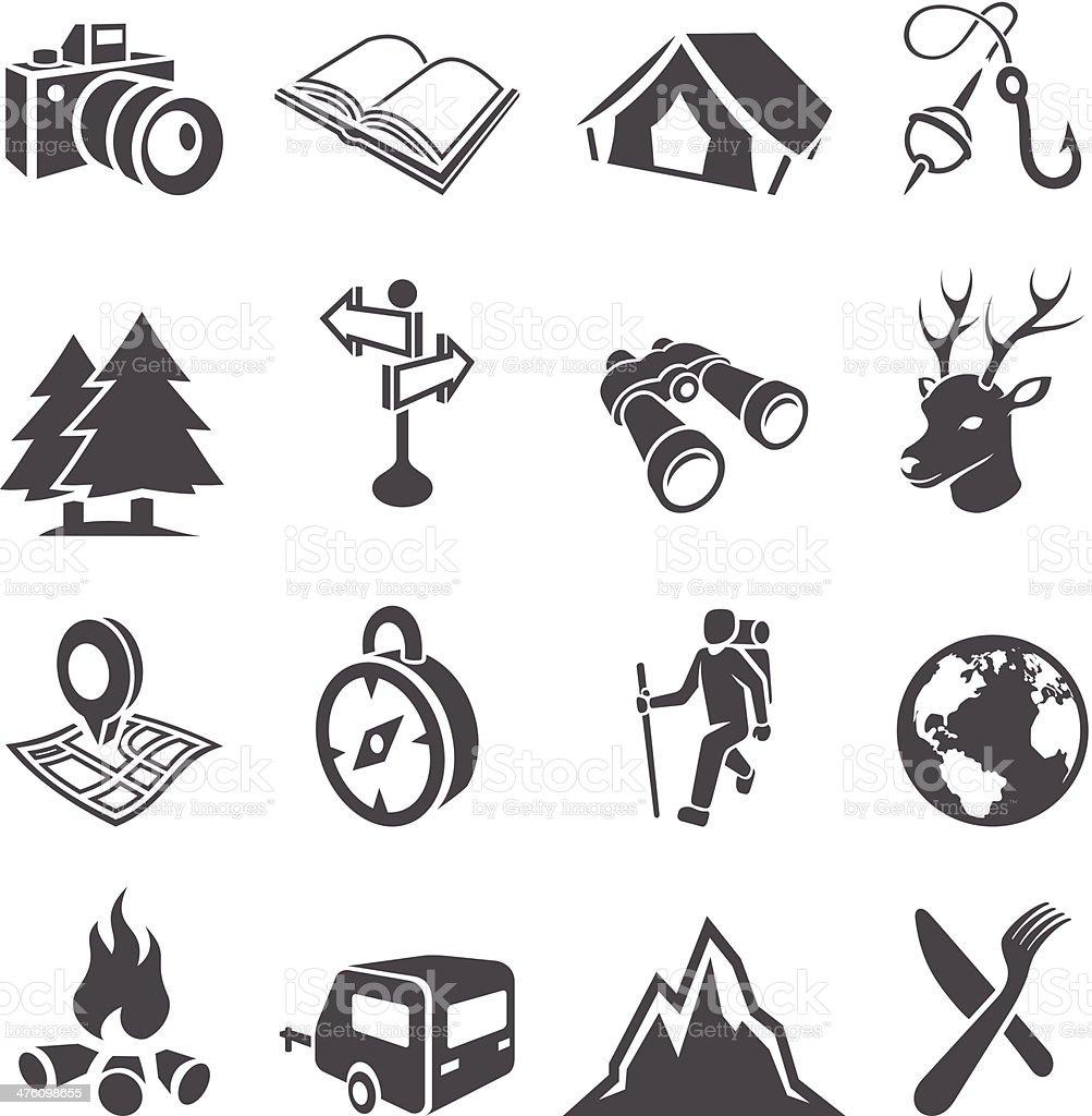 Camping Icon Set royalty-free stock vector art