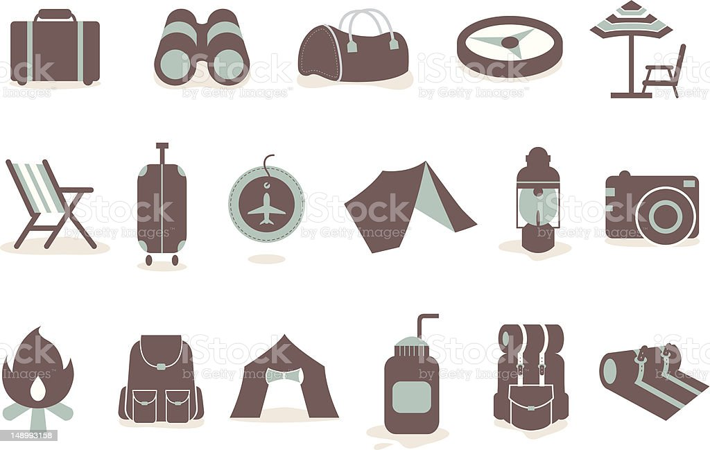 Camping icon royalty-free stock vector art